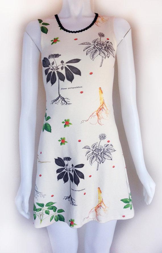 Ginseng Print Dress