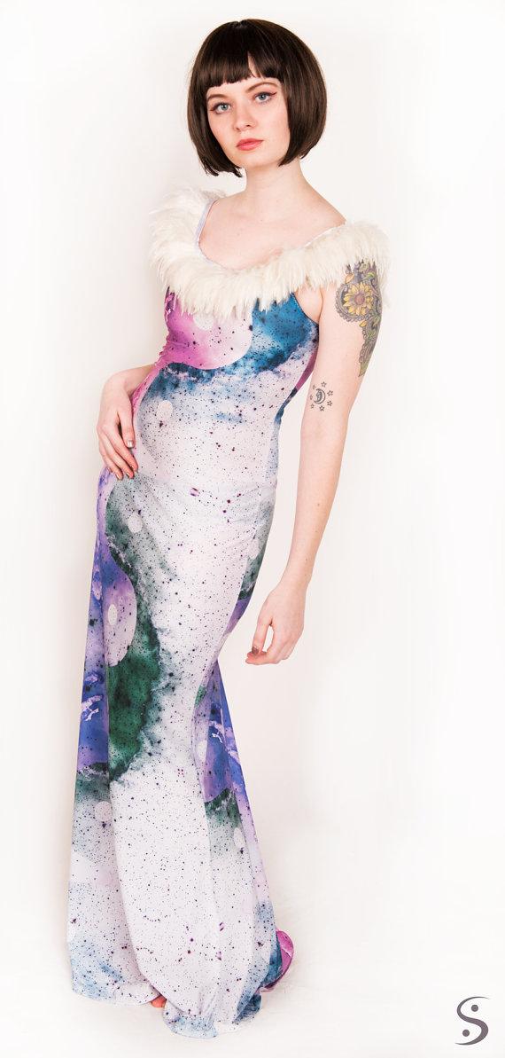 Nebula Yin Yang Space Gown